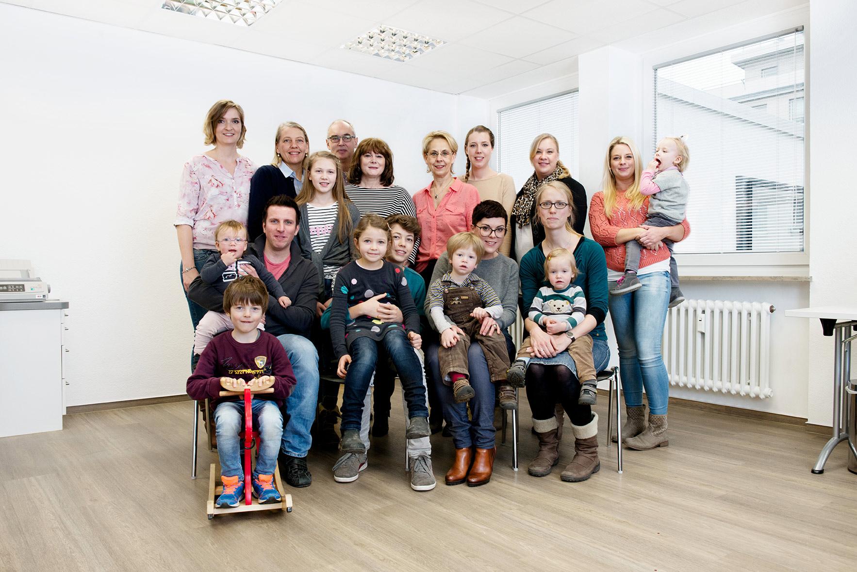Praxisteam mit Familie